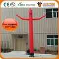 Free shipping 20ft 6m 45cm tube diameter single leg advertising inflatable sky dancer air dancer