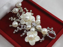 Elegant Beauty White Jewelry Pearl Brooch
