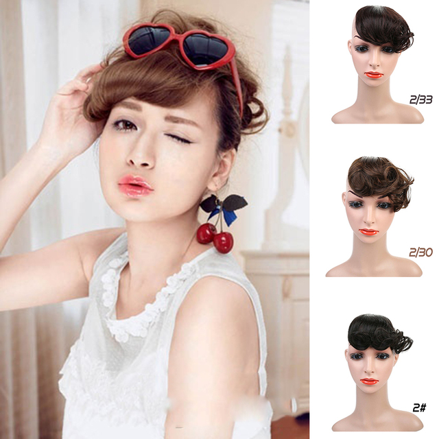 MUMUPI sintético de alta temperatura de fibra química de seda recta de encaje peluca frontal bangs peluca modelos femeninos