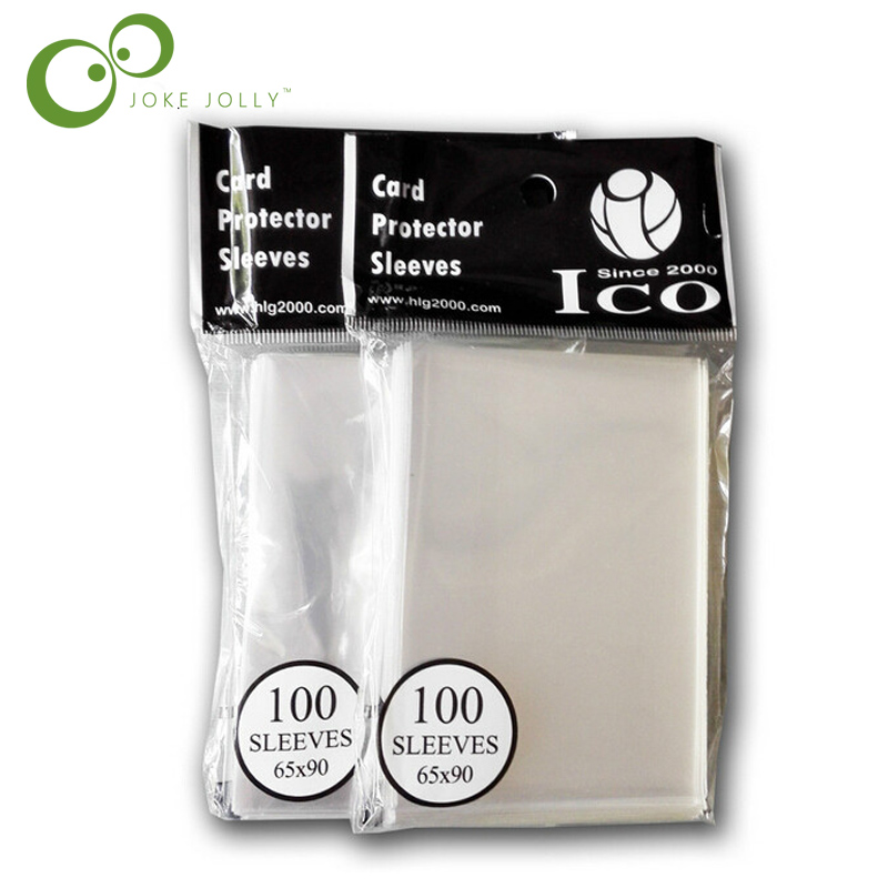 200pcs/2bag 65*90mm Card Sleeves Cards Protector for magic the gathering board game sleeves WYQ