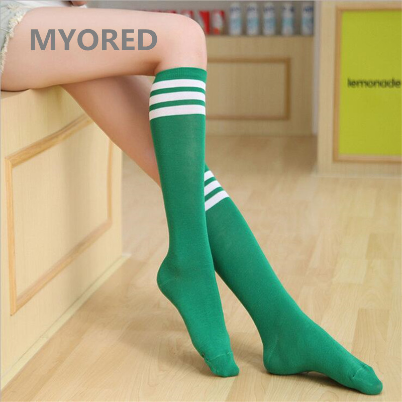 MYORED karamele me vija me vija pambuku femra seksi çorape të gjata - Të brendshme - Foto 4