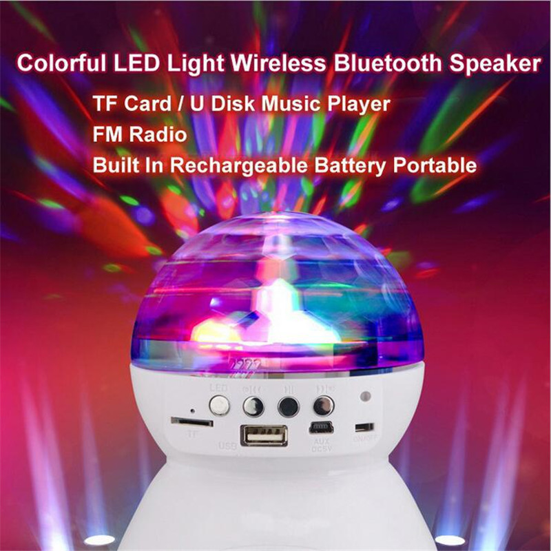 LED BLUETOOTH DISCO PARTY LIGHT SPEAKER AND RADIO