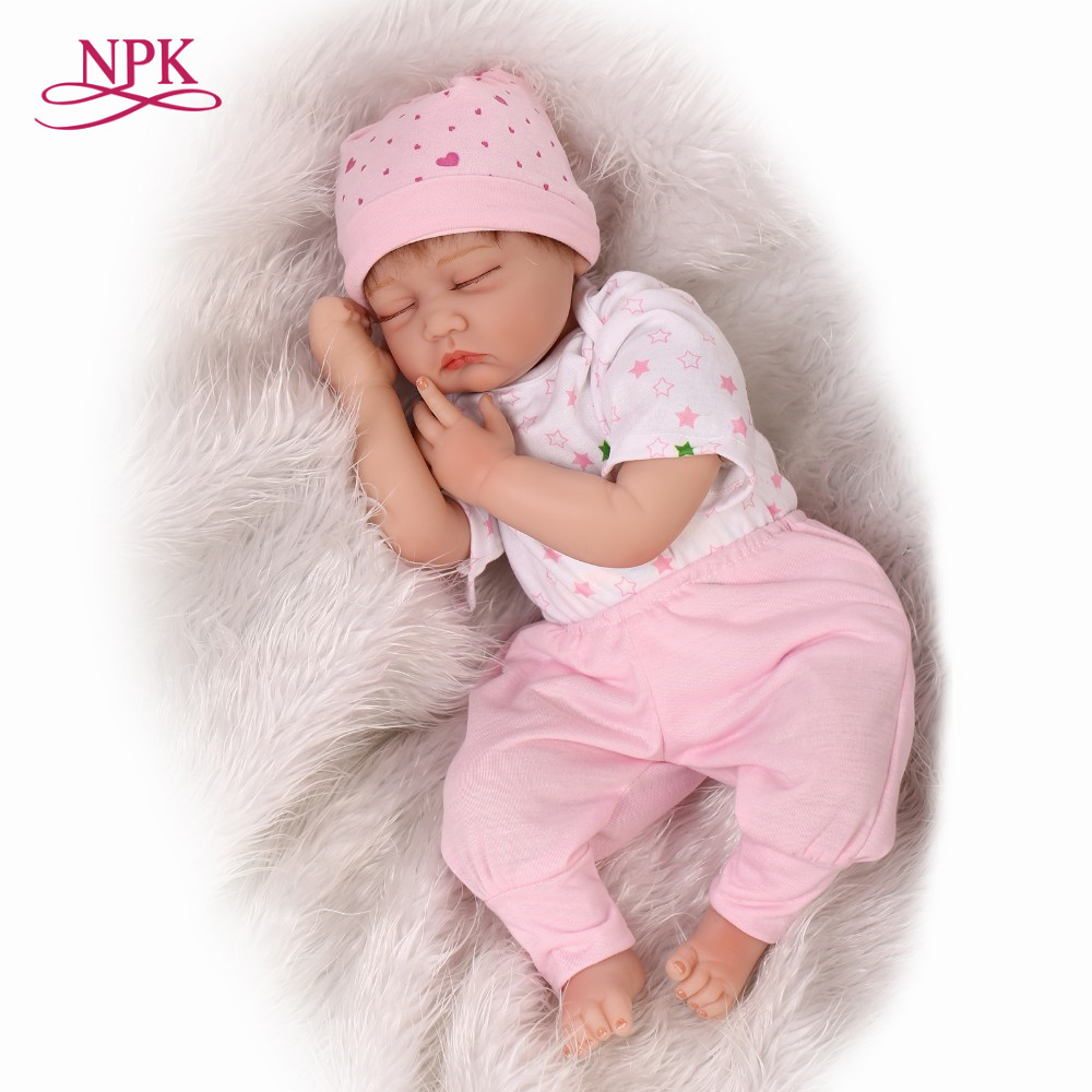 NPK reborn baby doll lovely close eye baby doll silicone vinyl soft real touch lifelike newborn baby Christmas giftsNPK reborn baby doll lovely close eye baby doll silicone vinyl soft real touch lifelike newborn baby Christmas gifts