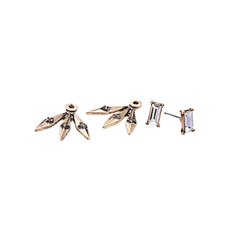 New Arrival Retro Detachable Alloy Rivets Earrings Punk Style Fashion Women Stud Earrings Jewelry Accessories Christmas Gift