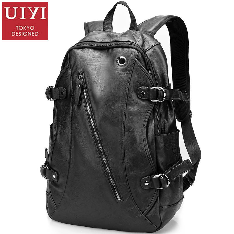 UIYI Backpack Men Women Travel School Bag For Teenagers Female Mochila PU Leather Laptop Backpacks School Rucksack 120533 kunzite 5 pc set men and women backpacks casual travel backpack mochila teenagers women student school book bags laptop backpack