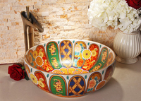 European Retro Style Chinese Ceramic Art Basin Wash Basin