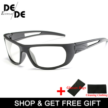 Brand Photochromic Sunglasses Men Polarized Chameleon Discoloration Sun glasses for men fashion rimless square sunglasses