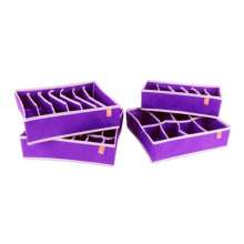 4pcs/set foldable box Candy color underwear containing for bra necktie socks Free shipping