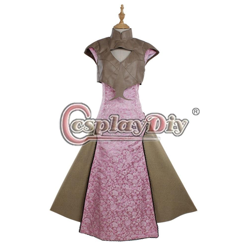 Cosplaydiy  Daenerys Targaryen Dress Game of Thrones Season 5 Cosplay Costume Adult Women Halloween Costume Custom Made
