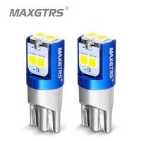 2 pièces W5W 3030 SMD voiture T10 LED 194 168 cale remplacement inverse tableau de bord lampe blanc bleu ampoules pour feux de dégagement