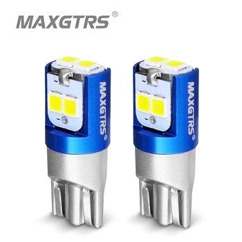 2 sztuk W5W 3030 SMD samochodów T10 LED 194 168 wymienny klin rewers Instrument lampa panelowa biały niebieski żarówki dla światła obrysowe