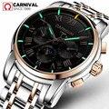 T25 Тритий газ светящиеся механические часы для мужчин карнавал полная сталь многофункциональные автоматические наручные часы Мужские часы...