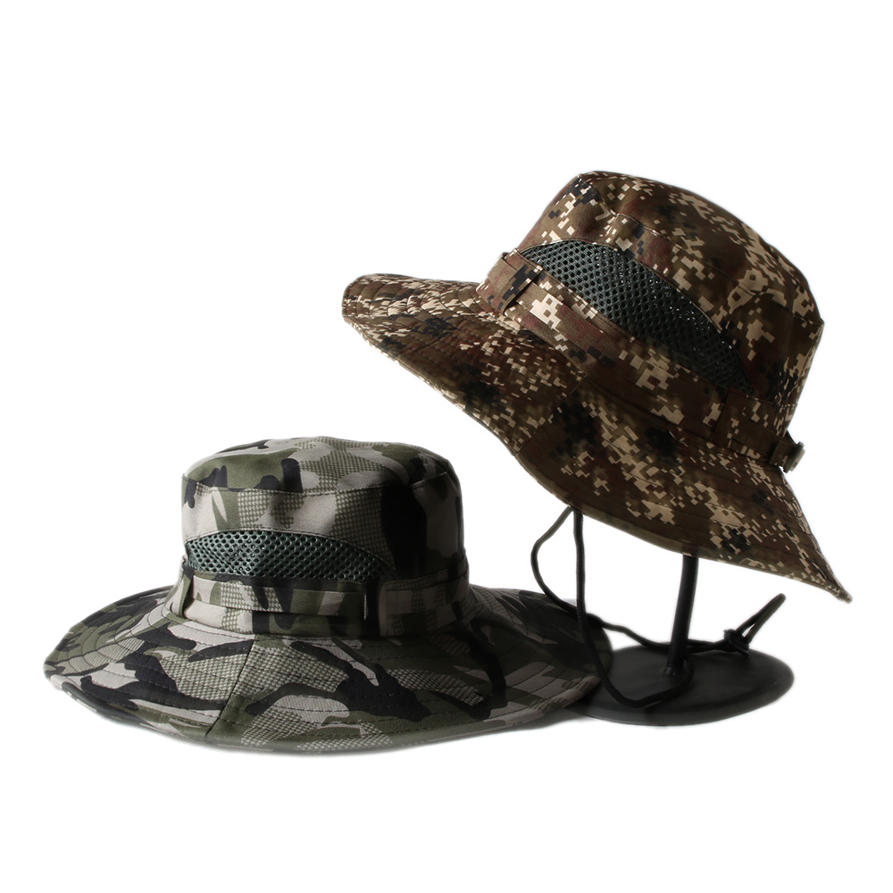 Summer Top Quality Thicken MULTICAM HAT ARMY BOONIE HAT Military Camouflage  Mesh Bucket Hats Hunting Hiking Fishing 11ed43955f1