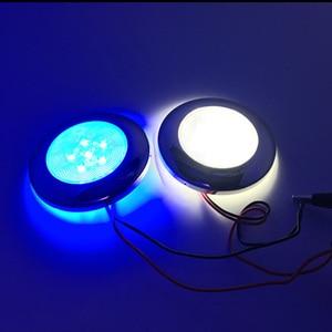 Image 5 - 12V Marine Boat Yacht RV LED Light Stainless Steel Housing White Blue Dome Light Interior Lamp