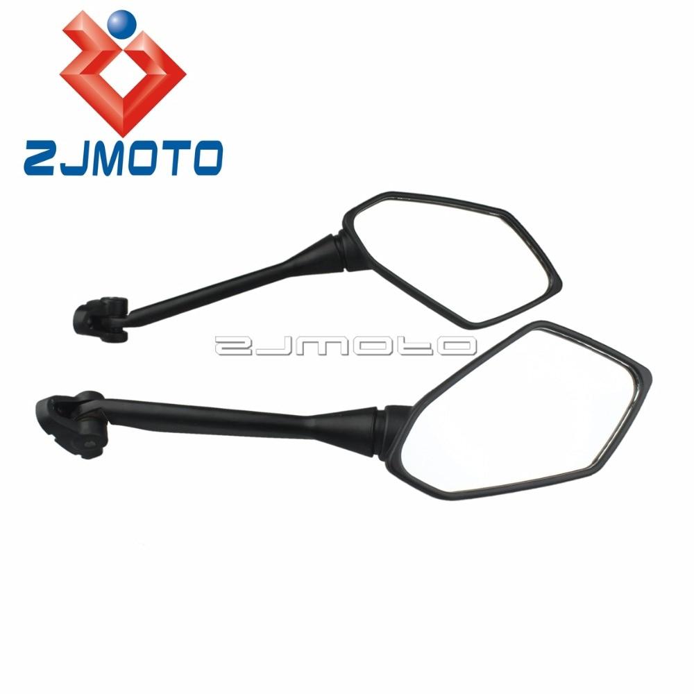 2PCS Rearview Mirrors For Honda CBR600 F4 F4i 99-06 RC51 RVT 1000R 00-06 Black