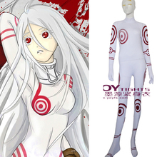 Movie Coser 5 High Quality Spandex Shiro In DEADMAN WONDERLAND Cosplay Zentai Cosplay Costume
