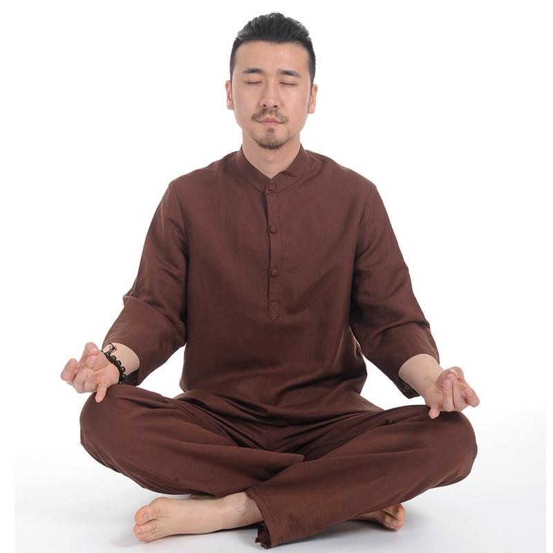Men Yoga Clothing Jogging Suit Chinese Zen Suit Healthy