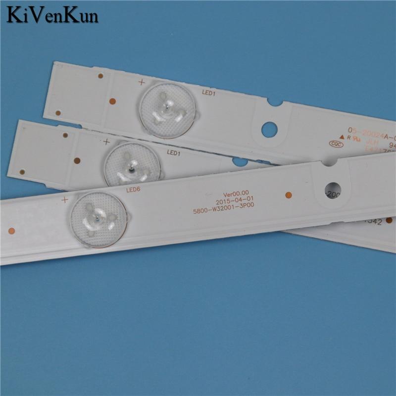 מזגנים 7 תאורה אחורית LED מנורות רצועת לקבלת Erisson 32LES71T2 5800-W32001-3P00 Ver00.00 קורות להקות קיט טלוויזיה LED LC320DXJ-SFA2 RDL320HY (4)