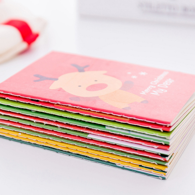 1pcs lot Lovely Santa Snowman Elk Pocket Notepad Book Gift Happy Christmas Notebook Stationery in Notebooks from Office School Supplies