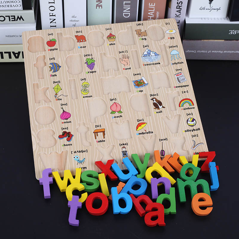 Children ABC Alphabet Puzzle Games Early Learning Card Numbers Jigsaw Toy J