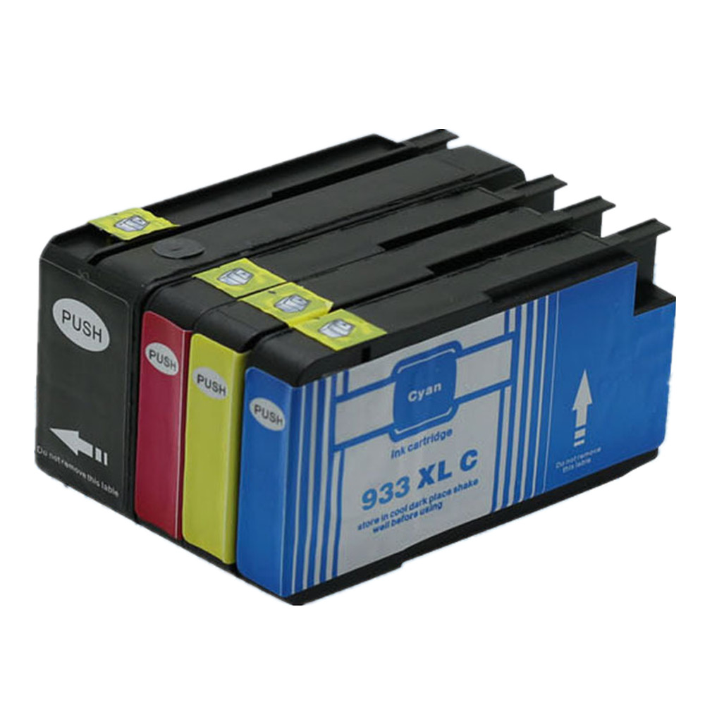 4 Pk 932 933 XL 932XL 933XL Ink Cartridges For HP HP932 HP933 HP932XL HP933XL CN053AE OfficeJet 7110 7610 6100 6600 6700 Printer