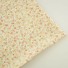 New Arrivals Cotton Fabrics Simple and Plain Flowers Pattern Art Work Patchwork Tissue Clothes Plain for Toys and Doll's Sewing