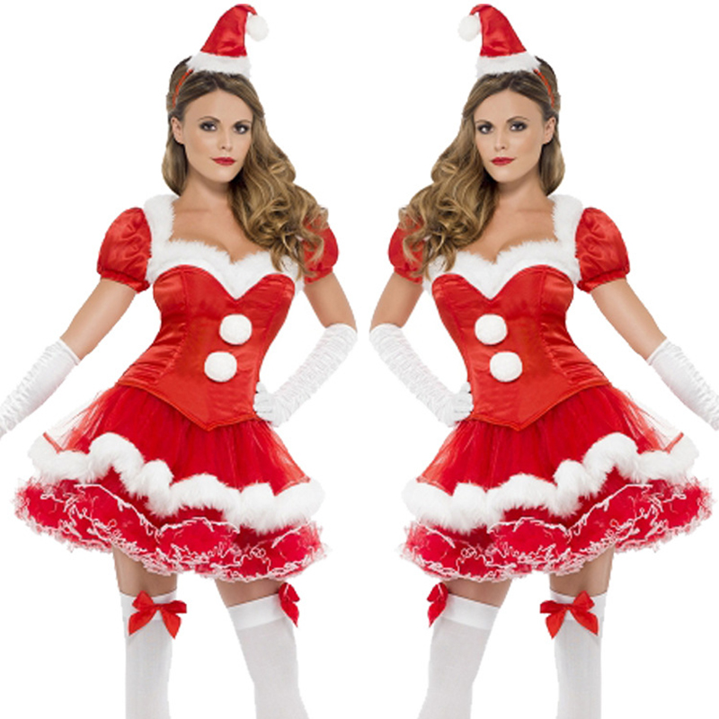 New 2018 Christmas Christmas Costume Female Adult Red Party Carnival Stage Performance Costume Performance Cute Little Red Ridin