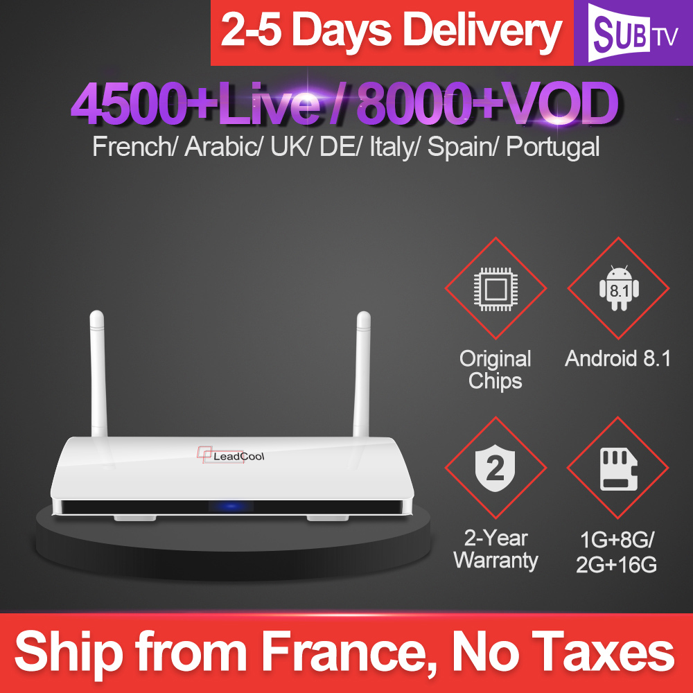 IPTV 1 Year Subscription SUBTV Full HD French IPTV Box Leadcool Android Europe Arabic Netherlands Turkey
