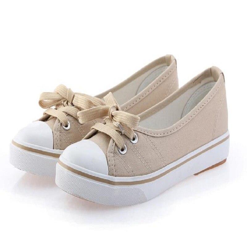 DIXINYILI beitong2018 Luz de primavera zapatos de lona Mujer Zapatos slip-on marea coreana estudiantes pedal zapatos planos