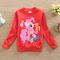 Autumn 2016 Kids Little Pony T-shirt Baby Girls Christmas Clothes Girls Monsoon Girls Long Sleeve T-shirt Girl Cartoon T-shirt