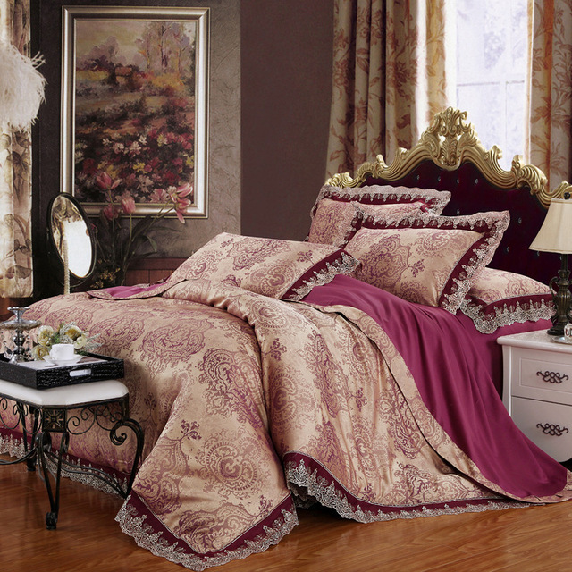 Gorgeous Bedding Set 4PC Bed Sets Jacquard Duvet Cover Bedspread  Full/Queen/King Size