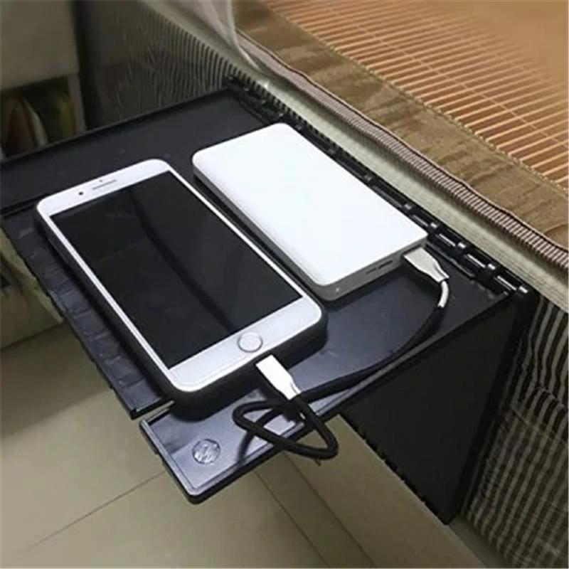 Black Holder Sofa Bed Bedside Folding Attachment Computer Desk Shelf Bracket For Storage Portable Household Artifact Storage