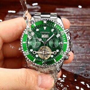 Image 3 - HAIQIN Nóng Thương Hiệu Nam Đồng Hồ Cơ Học Kinh Doanh Dây Thép Nam Đồng Hồ Đeo Tay Tourbillon Reloj Mecanico De Los Hombres