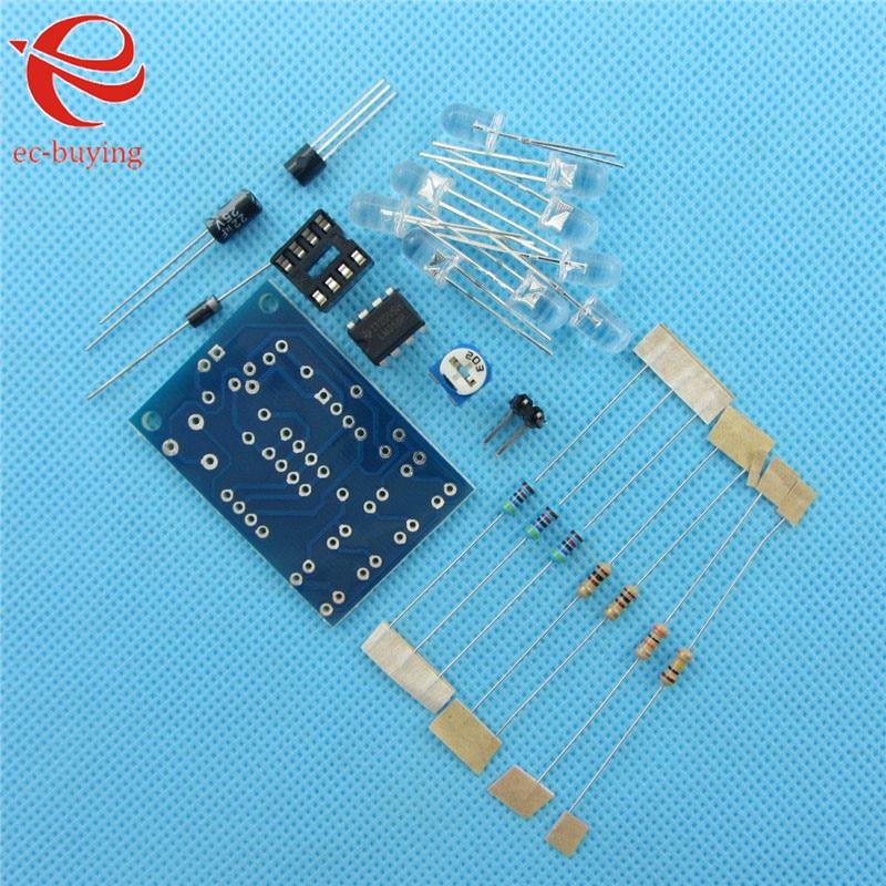 5pcs/lot Blue Led 5MM Light LM358 Breathing Lamp Parts Kit Electronics DIY kit Interesting Product Suite