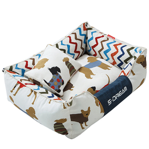 Image 5 - JORMEL Dog Bed Mat Kennel Soft Dog Puppy Pet Supplies Nest For Small Medium Dogs Winter Warm Plush Bed House Waterproof Cloth