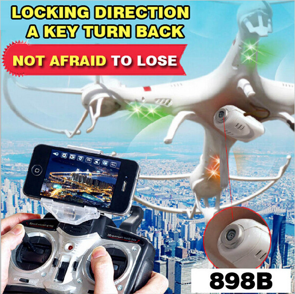 HQ898B Quadcopter Drone With Camera HD FPV 2.4G RC Helicopter RTF Headless Mode 4CH 6 AXIS Gravity Sensor Toys 898b