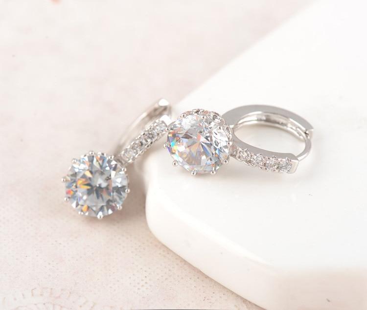 Luxury Classical Women Jewelry Set Designer Round Necklace Earring & Ring Set Sieraden en horloges