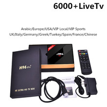 Iptv portugal H96 PRO Plus android tv box 4k 6000 + chaînes en direct Europe IPTV pologne 4K suède grec H96pro(China)