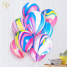 Nicro 5 10 pcs 10 inch Painting Agate Balloons Colorful Cloud Air Balloon Birthday Party Ballon Decoration Balony Globos #Bal63(China)