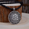 Men fashion retro the valknut viking necklace pendant necklace scandinavian norse viking