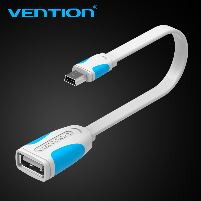 vention mini usb otg cable and usb otg adapter for gps camera mobile phone tablet and more