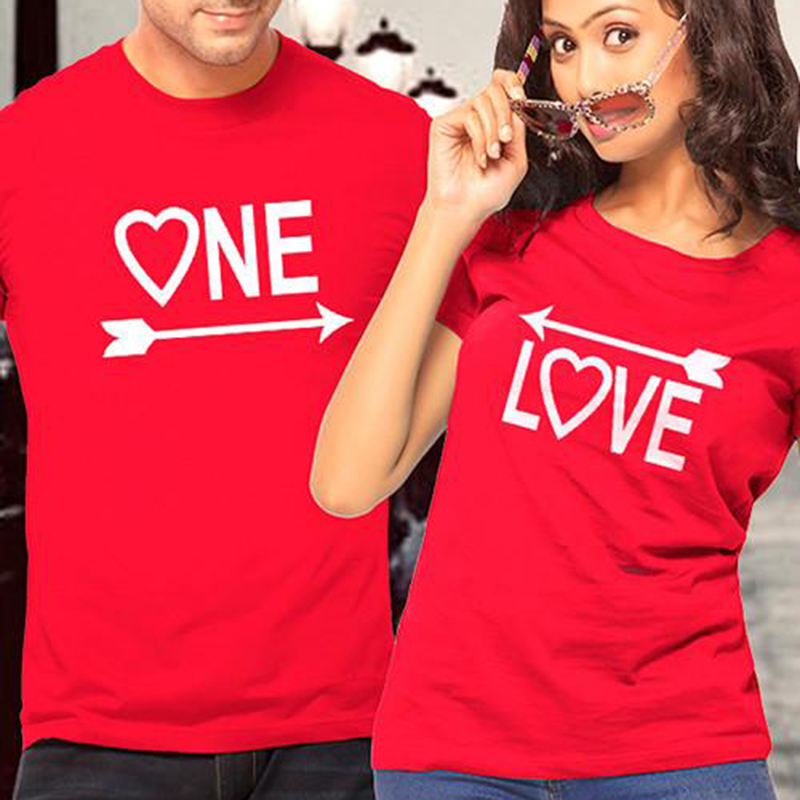 EnjoytheSpirit Couple T Shirt for Lovers One Love Arrows To Each Other Graphic Tees Coup ...