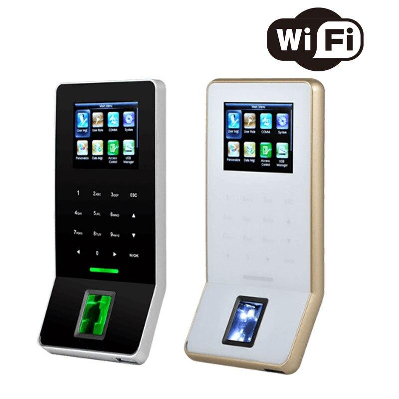 WIFI et RJ45 Connexion Ultra Mince de Temps D'empreinte digitale et Contrôle D'accès Biométrique Employé Suivi Système ZK F22