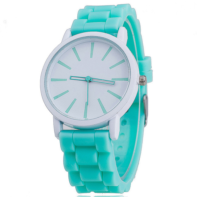 Dropshipping Fashion Jelly Silicone Women Wristwatches Casual Luxury Quartz Watc