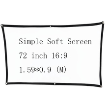 Thinyou Simple Soft Projector Screen  72 inch 16:9 Outdoor Canvas Matt White Portable 3D HD Home Theater Wall mounted