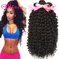 8А Бразильские Волосы Девственницы Фигурные Волны Современный Шоу Глубоко Вьющиеся Волосы бразильские Человеческие Волосы Джерри Curl 4 Связки Afro Kinky Вьющихся Волос