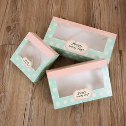 10 шт. бумажная коробка конфет в горошек Mooncake Печенье Шоколадный торт коробка свадебные коробки для подарков вечерние еда подарочная упаков...