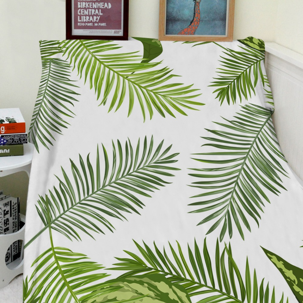 Blankets Cobertor Warmth Soft Plush Simple Green Tropical Plant Palm Leaves Sofa Bed Throw a Blanket Thick Thin PlaidBlankets Cobertor Warmth Soft Plush Simple Green Tropical Plant Palm Leaves Sofa Bed Throw a Blanket Thick Thin Plaid