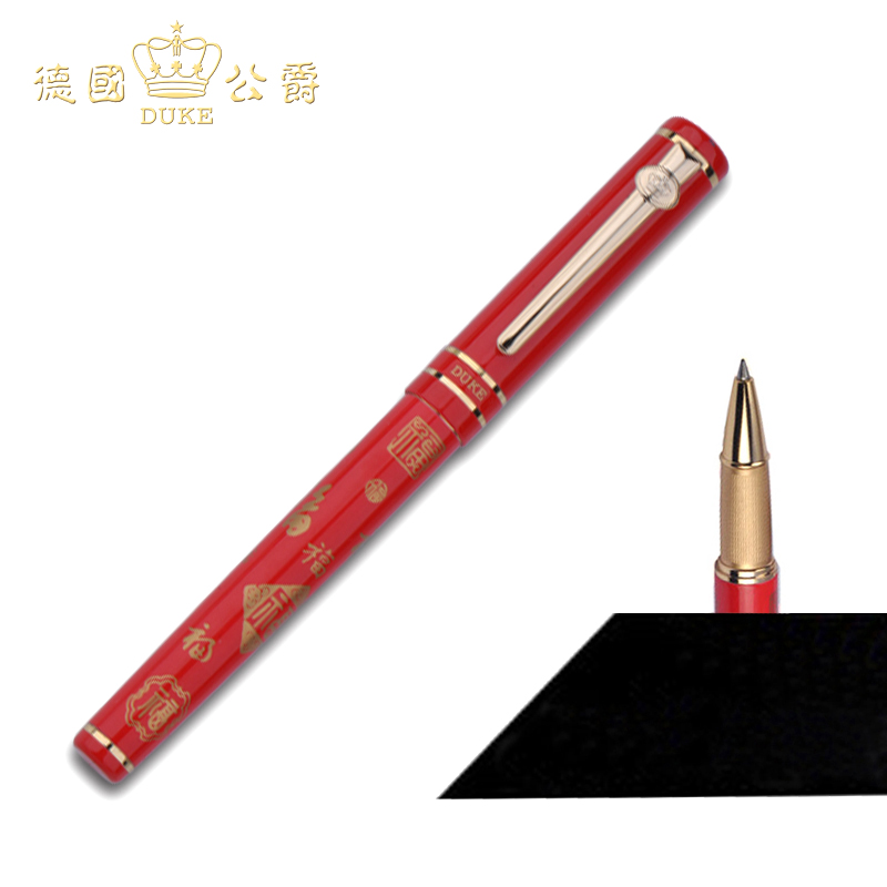 Brand New Red Duke M06Fu Rollerball Pen 0.5mm Refill Gift Business Ballpoint Pens Signature Pen with Original Box Free Shipping  high quality smooth crystal rollerball ballpoint pen with usb screw type touch pens with gift box free shipping