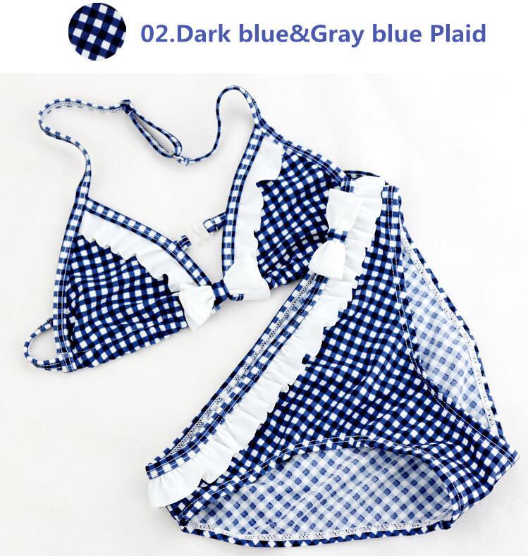 Traje de baño para niñas 2 piezas Traje de baño azul / rojo / gris - Ropa deportiva y accesorios - foto 5
